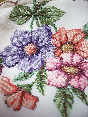 embroidered: Embroidered flower texture