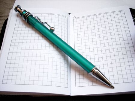 Pen and notepad Stock Photo - 3324350
