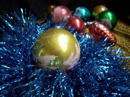 Christmas still life with Christmas tree decorations.Christmas still life with Christmas tree decorations.Christmas still life with Christmas tree decorations. Stock Photo - 3667128