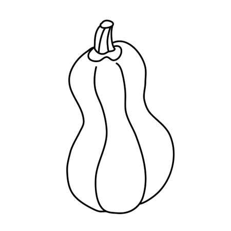 Shaped spanish guitar pumpkin in doodle style. Vektorové ilustrace