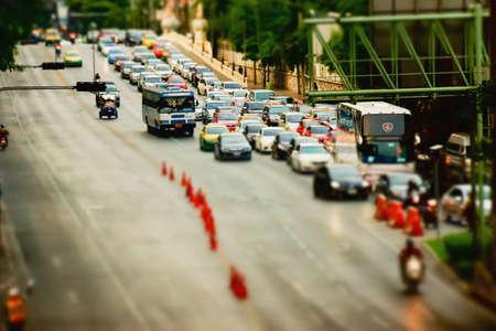 tilt shift: City transport in Bangkok Editorial