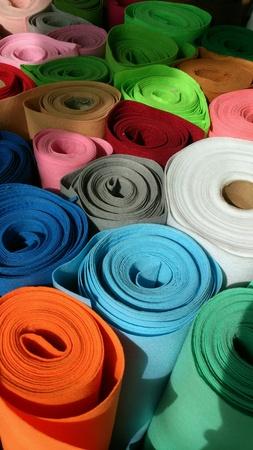 bright: Bright rolls of felt
