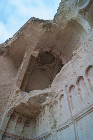 goreme: dark church in the early Christian monastery in Cappadocia, Goreme