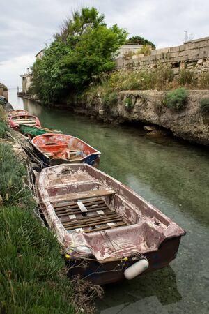 old boats in Torre Colimena, Apulia Zdjęcie Seryjne