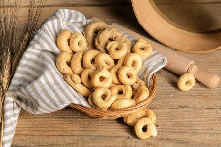 Taralli - traditional Italian snack food typical of Apulia regional cuisine