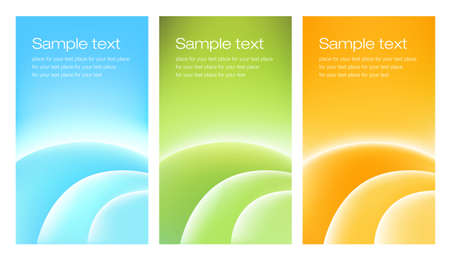 Three abstract cards for web or print  Can be used as business cards or leaflets