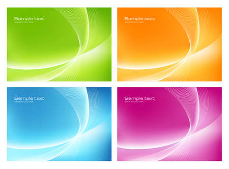 Four abstract backgrounds Stock Vector - 16423916
