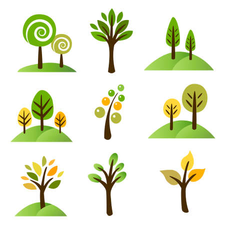 Collelction of trees Stock Vector - 16422888