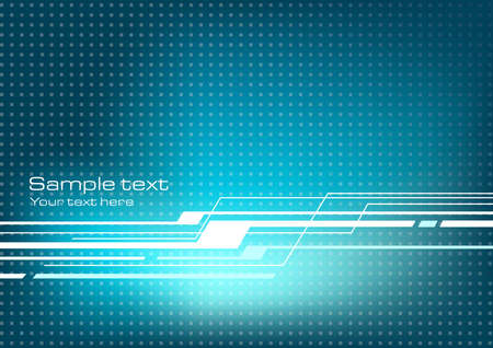 Blue abstract technology background Vectores