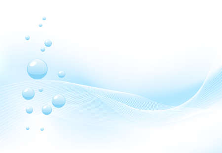 purity: Blue background symbolizing water, nature or purity