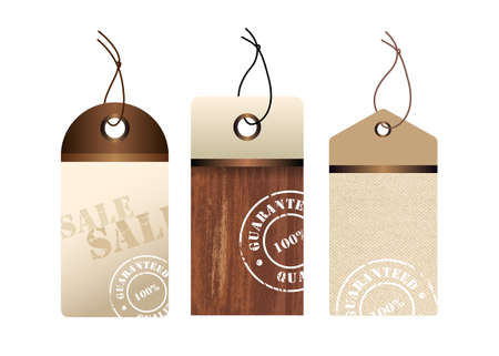 Three sales labels Illustration