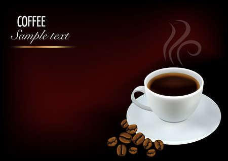 steaming coffee: Coffee background for web or print
