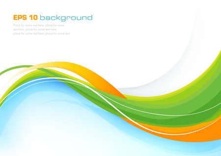 vague: Colorful fond abstrait avec des lignes �l�gantes Illustration