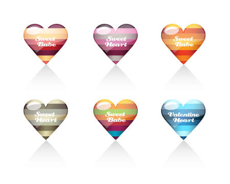 Collection of Valentine hearts
