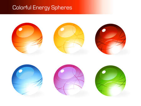 Collection of colorful spheres