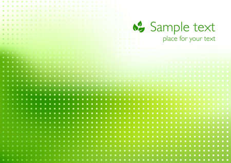 square abstract: Green background for ecology topics Illustration