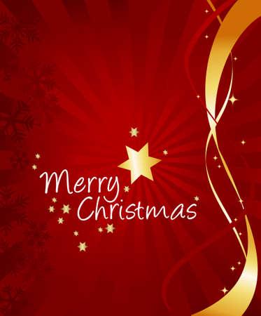 Decorative Christmas greetings card Illustration