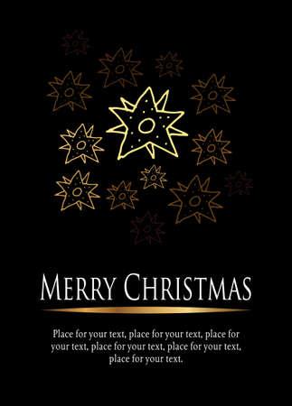 Christmas greetings card Illustration