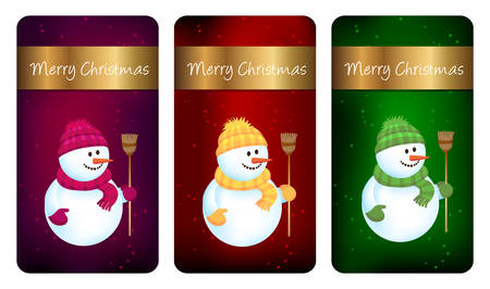 Three Christmas labels - cards