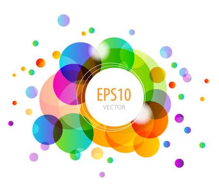 Abstracte achtergrond met kleurrijke cirkels