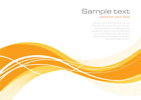 Yellow abstract background with elegant lines