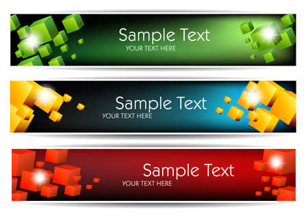 Abstract Banners For Web Or Print