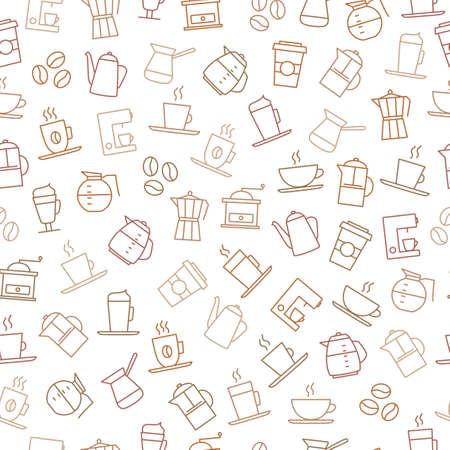 Caffè sfondo - seamless. Per i menu del ristorante, brand design, cancelleria, carta da parati decorazioni, biglietti da visita, ecc