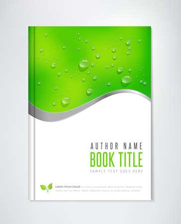 libro: Folleto de diseño - vector de plantilla. Puede ser utilizado para temas ecológicos, la agricultura orgánica, temas de estilo de vida saludables.