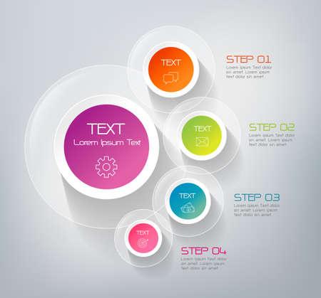 diagrama: Cuatro pasos infografía - pueden ilustrar una estrategia de trabajo, flujo de trabajo o equipo. Vectores