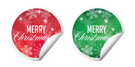 Christmas labels - tags for gifts. Can also be used as sales labels.