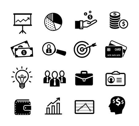 Business icons, productivity, team work, human resources, management.