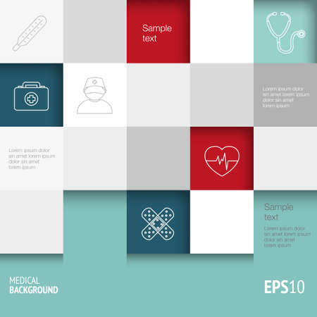 medical technology: Medical background with thin lines icons - template for web or print. Can illustrate any medical or healthcare topic.