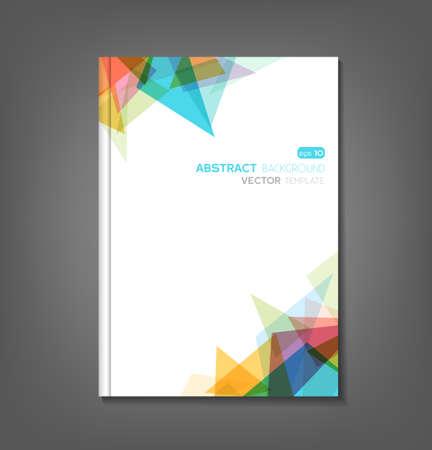 パンフレットの型板、本の表紙、フライヤーのデザイン  イラスト・ベクター素材