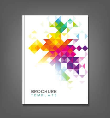 Brochure template, book cover, flyer design Reklamní fotografie - 50372324