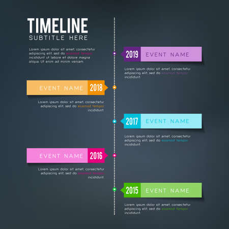 time of the year: Vector timeline template - for personal or business planning