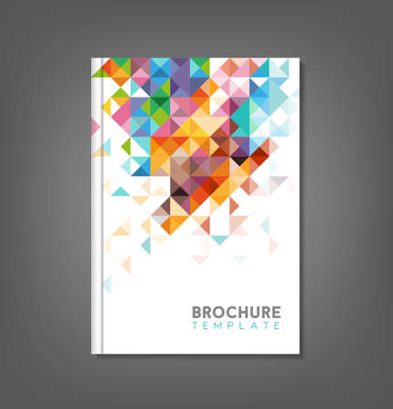 the cover: Brochure template, book cover, flyer design