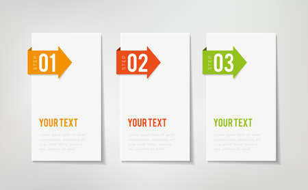 Three steps infographics - can illustrate a strategy or a workflow Ilustração