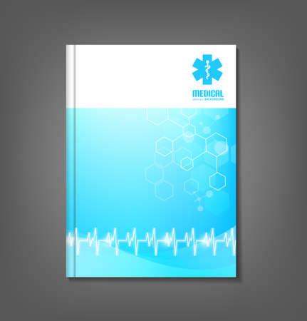 Medicine brochure template  flyer design suitable for healthcare topics Illustration