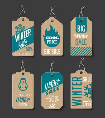Collection d'étiquettes de vente en carton. Peut être utilisé comme étiquettes de prix. Banque d'images - 50454591