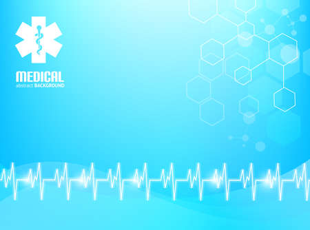 Blue abstract background suitable for materials about healthcare and medical topics