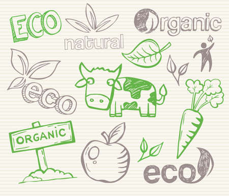 Eco and organic doodles