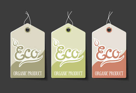 ecological: Collection of organic sales labels