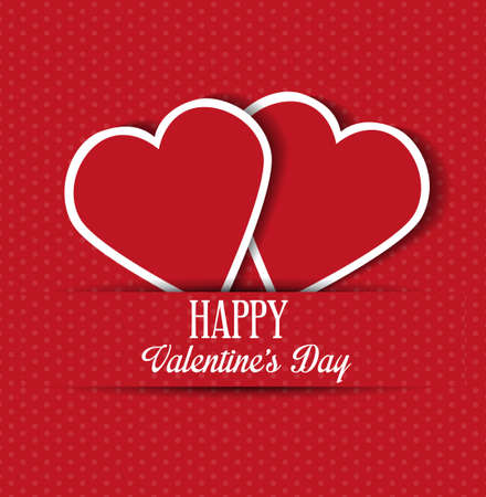 the valentine day: Valentine card with hearts for web or print Illustration