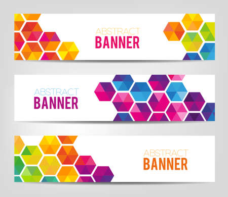 colofrul: Abstract geometric background - colofrul banners with geometric shapes.