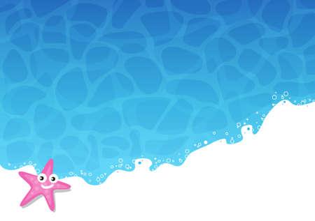 wave tourist: Summer holidays background - sun, sea, travel, relaxation, fun.