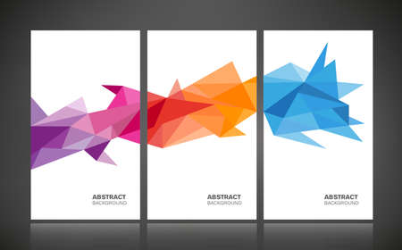 Abstract geometric background - colorful , posters with geometric shapes.