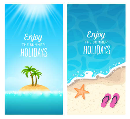 destinations: Summer holidays - traveling to tropical destinations, relaxation on the beach.