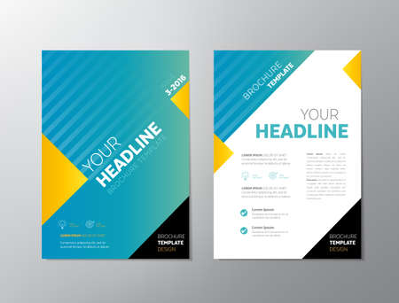 Brochure template design - can be used also as design for , posters or any other printed or online graphic materials.