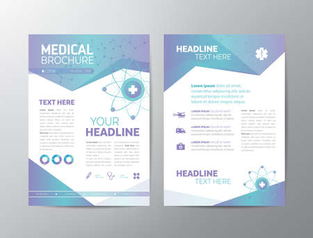 Abstract medical background - template. Can be used as book cover for any printed or online graphic materials about healthcare and medicine.