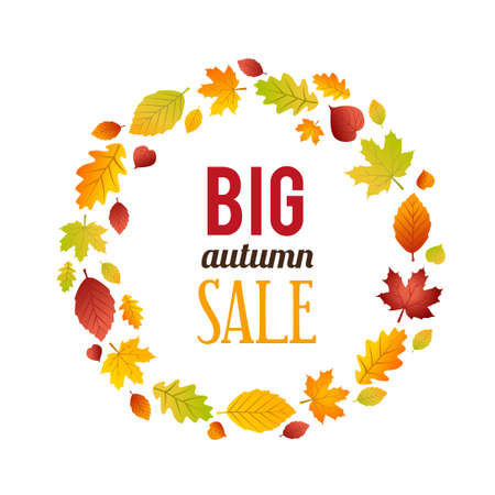 Autumn Sales Banner. Can be used for advertising purposes, for flyers, leaflets and posters. Illustration
